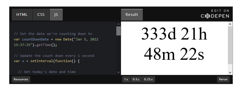 How to Create a JavaScript Countdown Timer