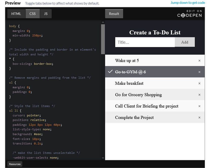 "How to create a ""To-do list"" with HTML, CSS and JavaScript"