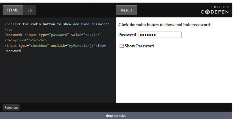 How to Create Show Password Feature / Toggle Password Visibility using JavaScript