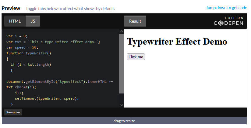 How to add Typing Effect / Type Writer Effect to your text Using JavaScript