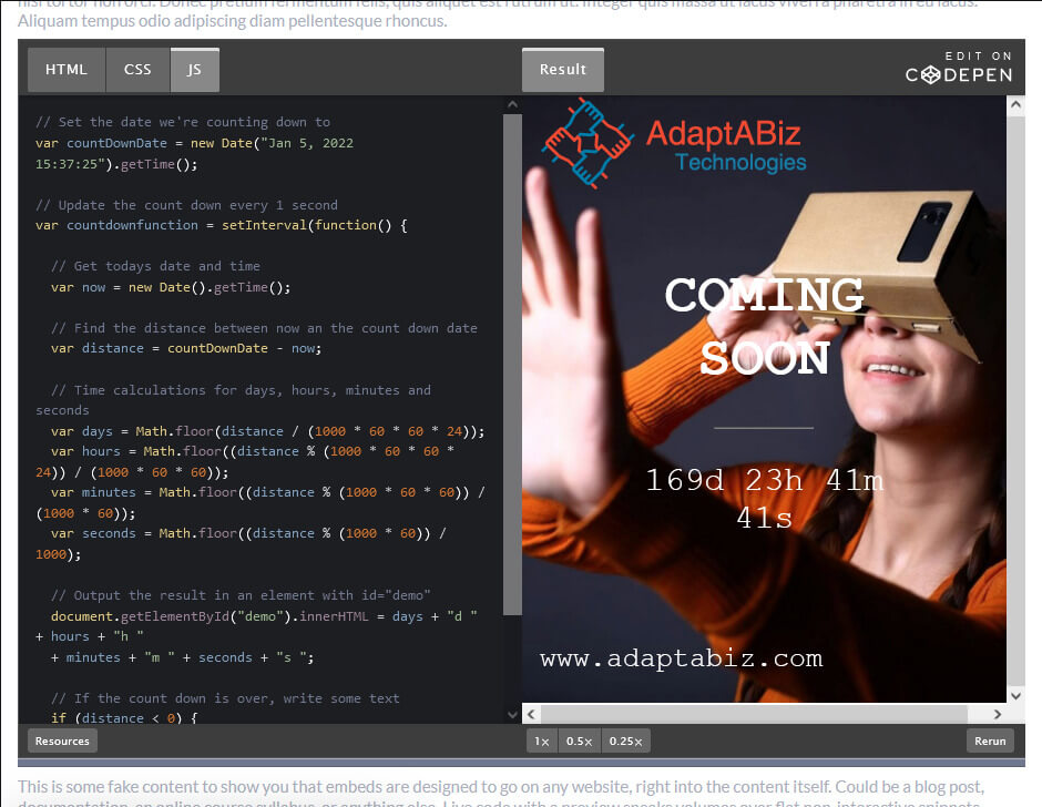 How To Create a Coming Soon Page / Maintenance Page Using HTML, CSS and JavaScript