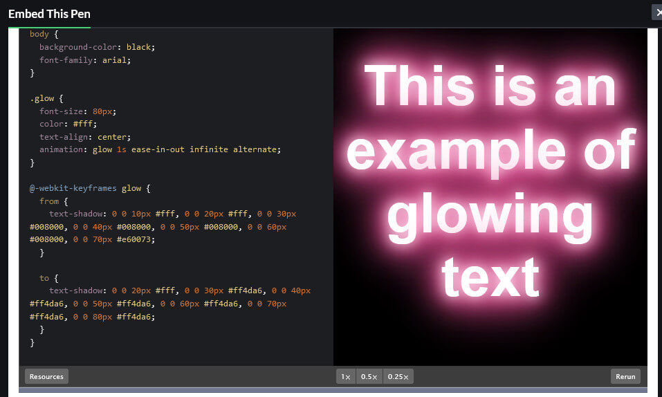 How to Create a Glowing Text using CSS