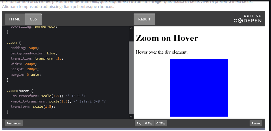 How to Create Zooming Effect on Hover Using CSS